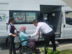 Mersin'de ortopedik engelli nakil araçları hizmete girdi