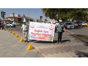 Malatya'da sağlık için yürüdüler