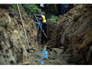 Görele ve Yalpankaya'da terfi hattı inşaa ediliyor