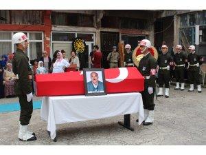 Giresun'da Kıbrıs Gazisi, törenle toprağa verildi