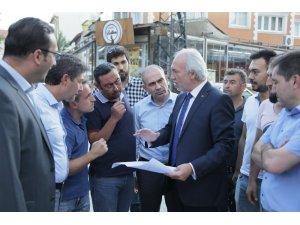 Başkan Saraçoğlu, alt yapı çalışmalarını yerinde inceledi
