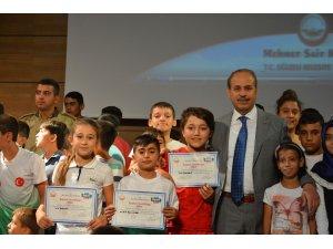 Oğuzeli Belediyesi yaz spor okullarında sertifika heyecanı