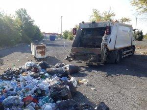 Sorumsuzlar kirletiyor Ergene Belediyesi temizliyor