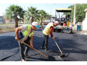 Şanlıurfa'da trambüs yolları asfaltlanıyor