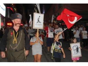 Giresun'da 'Zafer Bayramı' yürüyüşü