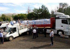 Çiftçilere 134 ton buğday dağıtıldı