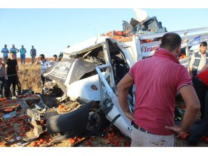Kamyona çarpan kamyonetin sürücüsü hayatını kaybetti
