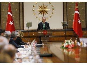 Cumhurbaşkanı Erdoğan'ın ABD'li şirket temsilcilerini kabulü sona erdi