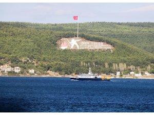 Rus Arama Kurtarma gemisi düşen Rus uçağını aramak için Çanakkale Boğazı'ndan geçti