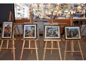 Çanakkale'de Boyutlu Kabartma Tablolar Sergisi açıldı