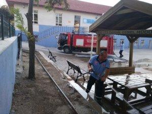 Balya'da okul bahçeleri pırıl pırıl oldu
