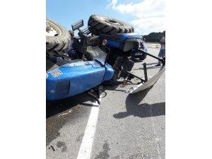 Karasu'da traktör kazası: 1 yaralı