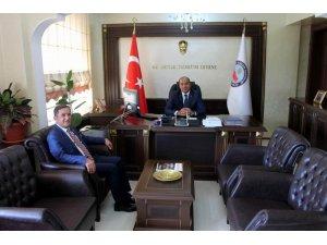 Başkan Şimşek'den Kaymakam Duman'a hayırlı olsun ziyareti