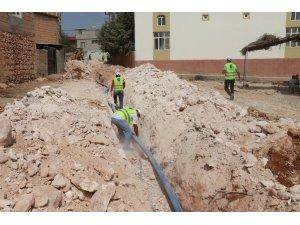 Halfeti'de atık su arıtma tesisi çalışmaları sürüyor
