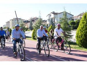 Çorum'da bisikletli çocuklar etkinliği