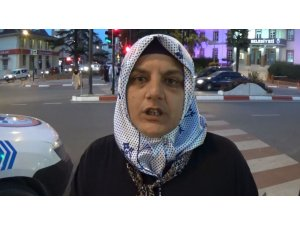 Trafikte darp edilen bayandan zanlıları yakalayan polise teşekkür