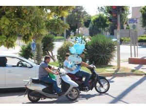 Kilis'te motosikletler yük taşımacılığında kullanılıyor