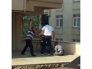 Babadan engelli oğluna şiddet
