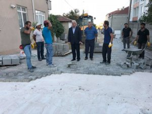 Başkan Yüksel Marmaracık Mahallesi'ndeki çalışmaları inceledi
