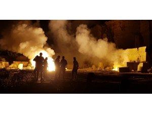 Mermer ocağındaki patlayıcı yandı