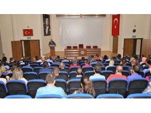 Kayseri Üniversitesi Rektörü Prof. Dr. Karamustafa tebrikleri toplu kabul etti