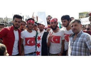 İdlib halkından Türkiye'ye teşekkür eylemi