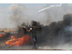 Gazze sınırında 1 kişi hayatını kaybetti, 312 kişi yaralandı
