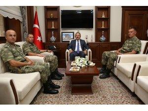 Tuğgeneral Ercan Pürsünlü Vali Ali Hamza Pehlivan'ı ziyaret etti