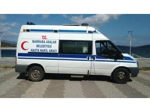 Sağlık Bakanlığından Marmara belediyesine hasta nakil aracı