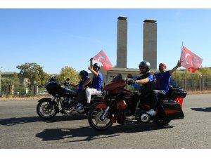 Ankara'da Harley'li gazi sürüşü