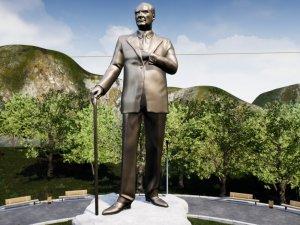 Atatürk'ün yeni heykeli Balıkesir'in her yerinden gözükecek