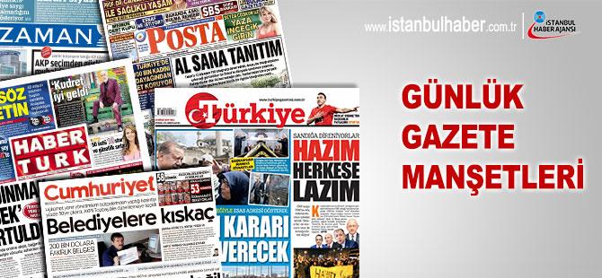 24 Eylül 2018 tarihli gazete manşetleri