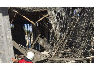 Şanlıurfa'da inşaatta çökme: 3 işçi yaralı
