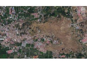 Uydu fotoğrafları Endonezya depreminin şiddetini ortaya çıkardı