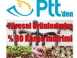PTT'den yöresel ürünlere kargo indirimi