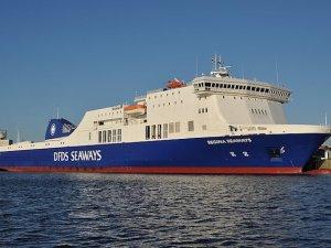 MS Regina Seaways yolcu gemisinde yangın çıktı
