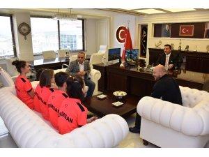 Başkan Bakıcı Türkiye Şampiyonlarını ağırladı