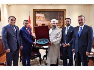 AK Parti Nevşehir heyeti, Diyanet İşleri Başkanı Erbaş'ı ziyaret etti