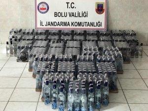 Bolu'da 745 şişe kaçak içki ele geçirildi