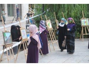 Cizre'de Kur'an kursu öğrencileri resim sergisi açtı