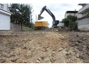 Ergene'de asfalt öncesi yol kazı çalışmaları
