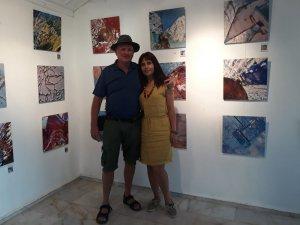 Hollandalı ressamın sergisi Kalkan'da açıldı