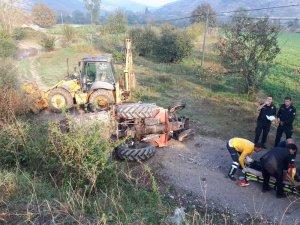 Kepsut'ta trafik kazası 2 yaralı