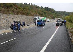 Zonguldak'ta cip takla attı: 1'i ağır 2 yaralı