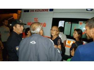 Nazilli'de lastik satış mağazası alevlere teslim oldu