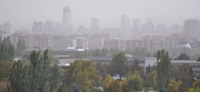 Toz bulutu Ankara'ya ulaştı