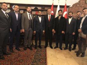 TÜGVA heyeti, Belediye Başkanı Seçen'i ziyaret etti