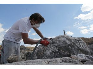 5 bin yıllık tarihi tapınakta restorasyon çalışması