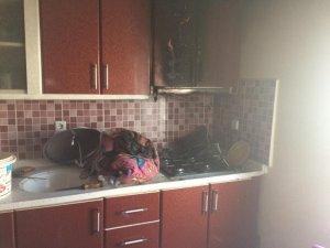Temizlenmeyen davlumbaz yangın çıkarttı