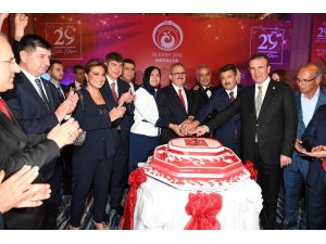 Antalya protokolü resepsiyonda buluştu